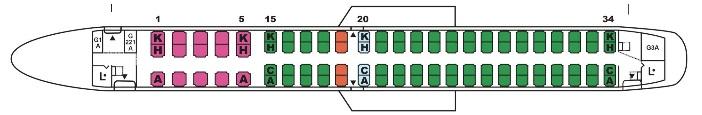 E190座席配列