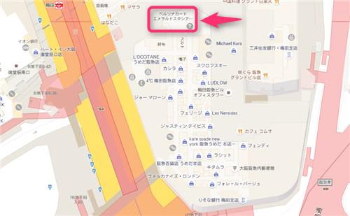 梅田阪急地図