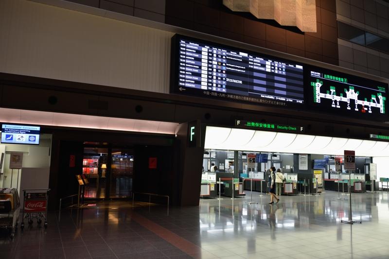 羽田空港ファーストクラスチェックイン