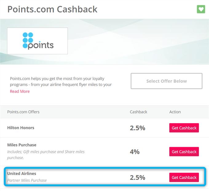 TopCashbackを通じて受けられるキャッシュバックの割合は購入金額の2.5%。