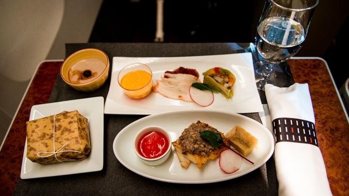 JAL国内線ファーストクラス 夕食