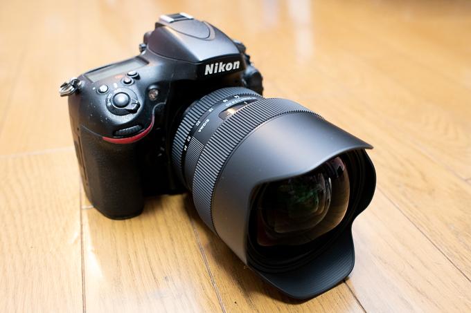 SIGMA 14-24mm F2.8 DG HSM | ArtをD800に装着したイメージ。