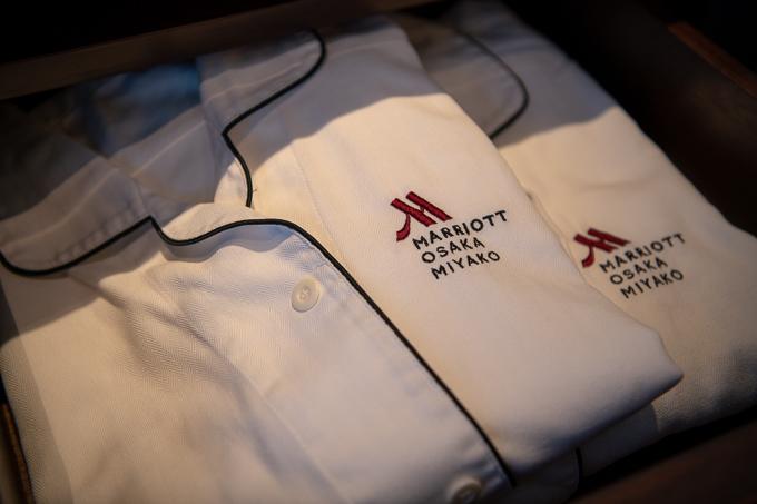 大阪マリオット都ホテルのパジャマ