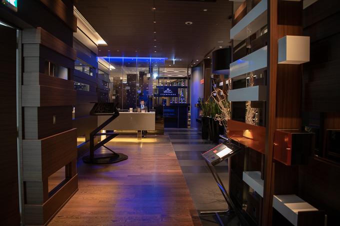 大阪マリオット都ホテルの57階レストランZKエントランス