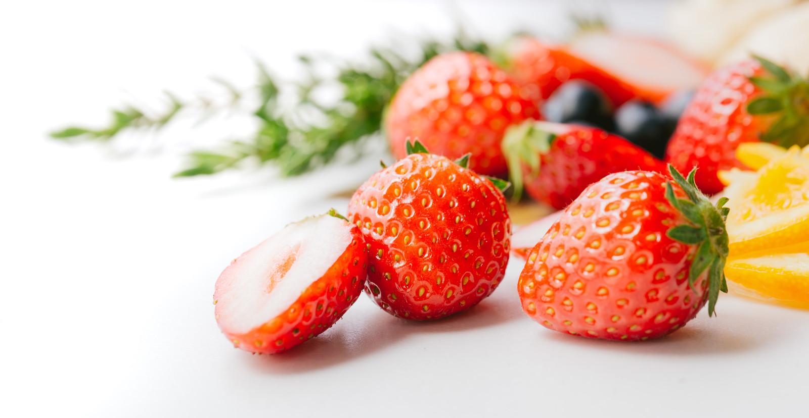 みずみずしいイチゴ。とってもおいしそうですね。