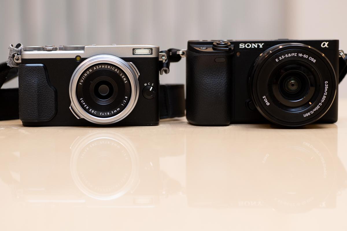 α6400とX70の比較写真