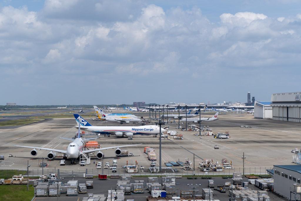 航空科学博物館から成田空港を望む